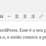 Guia WordPress: Editor de Posts