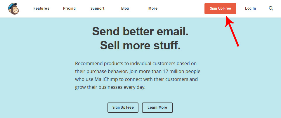 Mailchimp - Sign Up Free