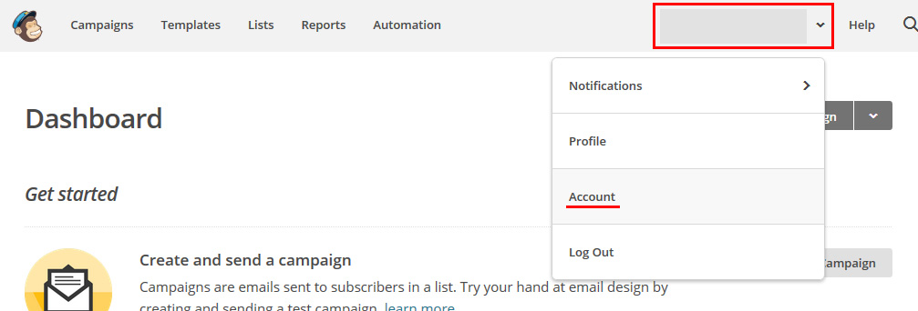 MailChimp - Account