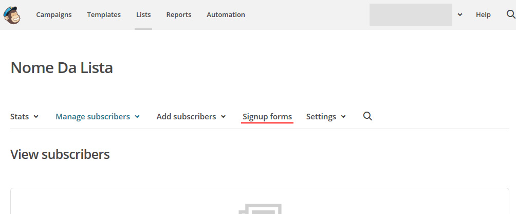 Mailchimp - Signup forms